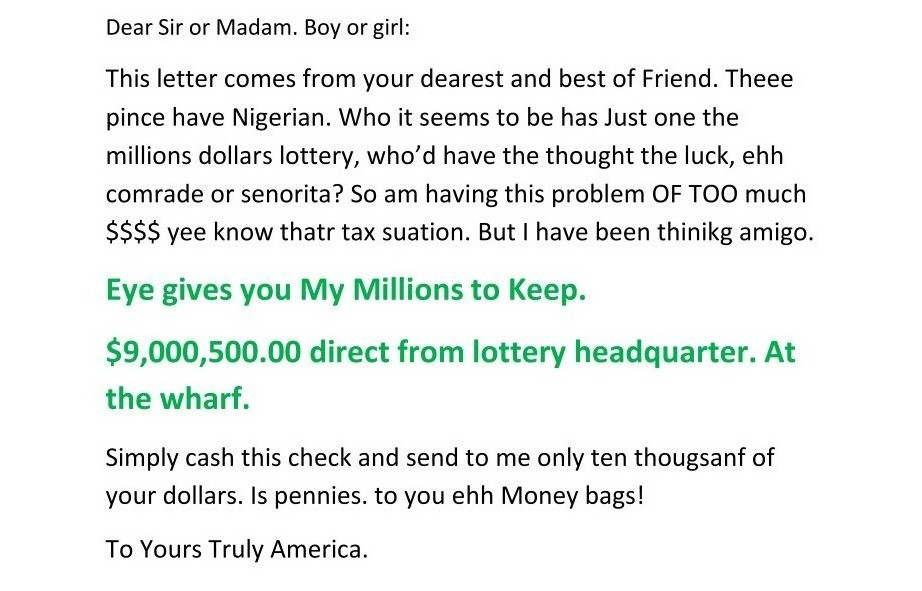 Letters nigerian scam Victims of